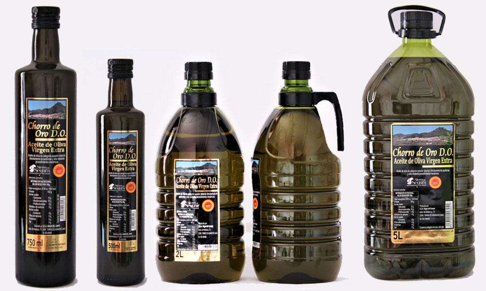 aceite de oliva virgen extra con denominacion de origen sierra de segura