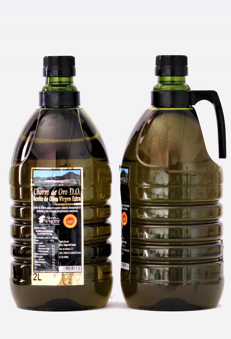 aceite de oliva virgen extra do sierra de segura chorro de oro pet 2 litros